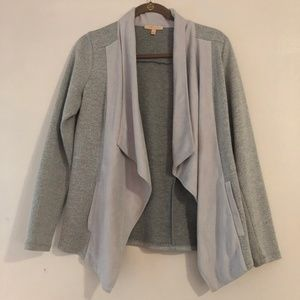 Gray Jacket with faux suede